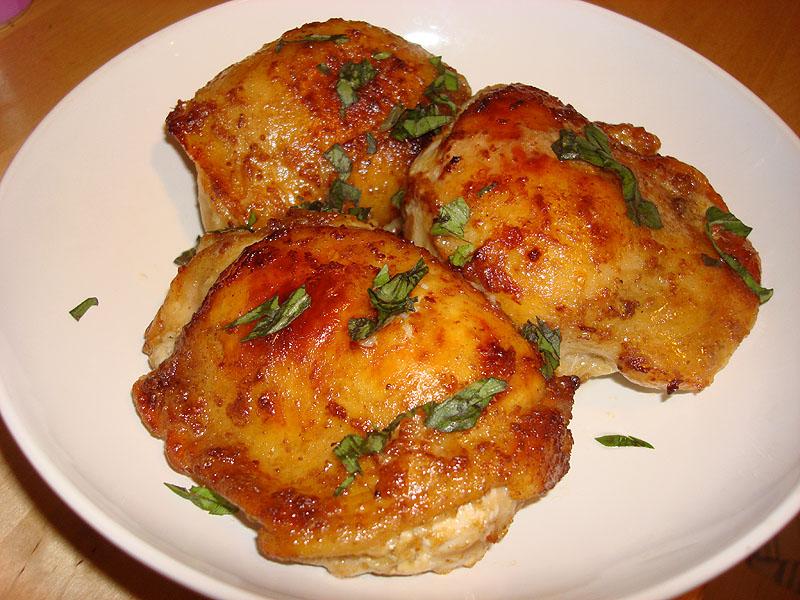 Курица в кефире с горчицей в духовке рецепт